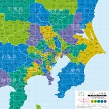 100万人の地図-東京首都圏100km