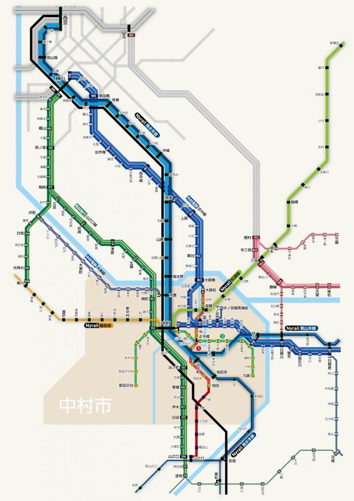 中村市鉄道路線図