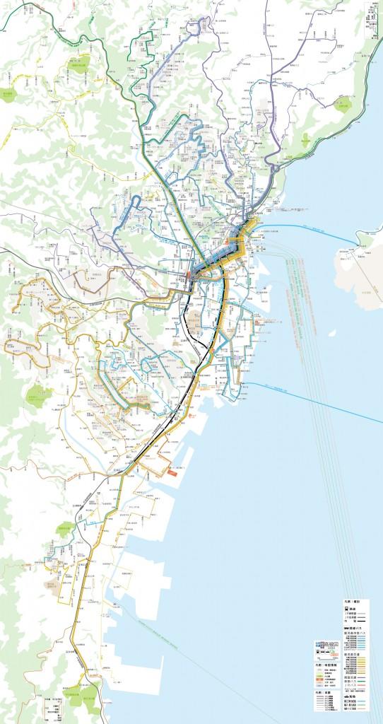 鹿児島市公共交通路線図(2007)